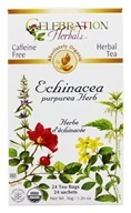 Celebration Herbals - Organic Caffeine Free Echinacea Purpurea Herb Herbal Tea - 24 Tea Bags