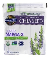 Garden of Life - Super Omega 3 Raw Organic Gluten Free Chia Seed - 12 oz. by Garden of Life