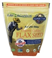 Real Cold Milled Raw Organic Gluten-Free Golden Flax Seed - 14 oz.