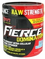 SAN Nutrition - Fierce Domination Pre-Workout Intra-Cellular Plasma Expander Blue Raspberry 40 Servings - 716 Grams - $41.62