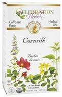 Celebration Herbals - Organic Caffeine Free Cornsilk Herbal Tea - 24 Tea Bags (628240201232)