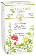 Celebration Herbals - Organic Caffeine Free Herbal Orange Rooibos Herbal tea - 24 Tea Bags (628240251763)
