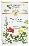 Celebration Herbals - Organic Caffeine Free Hawthorn Leaf & Flower Herbal Tea - 24 Tea Bags