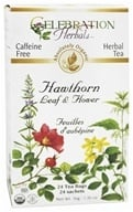 Celebration Herbals - Organic Caffeine Free Hawthorn Leaf & Flower Herbal Tea - 24 Tea Bags (628240201508)