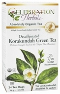 Celebration Herbals - Organic Decaffeinated Korakundah Green Tea - 24 Tea Bags by Celebration Herbals