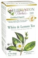 Celebration Herbals - Organic White & Lemon Herbal Tea - 24 Tea Bags (628240204189)