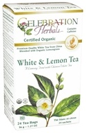 Celebration Herbals - Organic White & Lemon Herbal Tea - 24 Tea Bags by Celebration Herbals