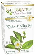 Celebration Herbals - Organic White & Mint Herbal Tea - 24 Tea Bags (628240204196)