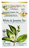 Celebration Herbals - Organic White & Jasmine Herbal Tea - 24 Tea Bags (628240204172)