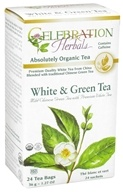 Celebration Herbals - Organic White & Green Herbal Tea - 24 Tea Bags by Celebration Herbals