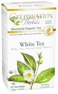 Celebration Herbals - Organic White Herbal Tea - 24 Tea Bags by Celebration Herbals