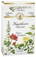 Celebration Herbals - Organic Caffeine Free Hawthorn Berries Herbal Tea - 24 Tea Bags (628240201492)