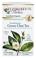 Celebration Herbals - Organic Decaffeinated Green Chai Tea - 24 Tea Bags (628240204660)