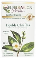 Celebration Herbals - Organic Caffeine Free Double Chai Tea - 24 Tea Bags by Celebration Herbals