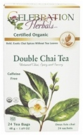 Celebration Herbals - Organic Caffeine Free Double Chai Tea - 24 Tea Bags, from category: Teas