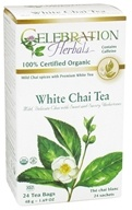 Celebration Herbals - Organic White Chai Tea - 24 Tea Bags (628240204684)