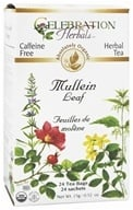 Image of Celebration Herbals - Organic Caffeine Free Mullein Leaf Herbal Tea - 24 Tea Bags