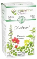 Celebration Herbals - Organic Caffeine Free Chickweed Herbal Tea - 24 Tea Bags