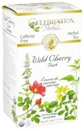 Celebration Herbals - Organic Caffeine Free Wild Cherry Bark Herbal Tea - 24 Tea Bags by Celebration Herbals