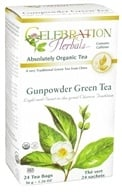 Celebration Herbals - Organic Gunpowder Green Herbal Tea - 24 Tea Bags by Celebration Herbals