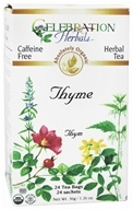 Celebration Herbals - Organic Caffeine Free Thyme Herbal Tea - 24 Tea Bags (628240251862)