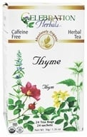 Celebration Herbals - Organic Caffeine Free Thyme Herbal Tea - 24 Tea Bags by Celebration Herbals
