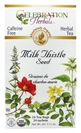Celebration Herbals - Organic Caffeine Free Milk Thistle Seed Herbal Tea - 24 Tea Bags by Celebration Herbals
