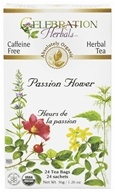 Celebration Herbals - Organic Caffeine Free Passion Flower Herbal Tea - 24 Tea Bags by Celebration Herbals