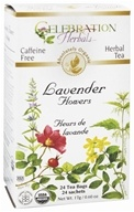 Celebration Herbals - Organic Caffeine Free Lavender Flowers - 24 Tea Bags by Celebration Herbals