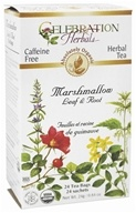 Celebration Herbals - Organic Caffeine Free Marshmallow Leaf & Root Herbal Tea - 24 Tea Bags by Celebration Herbals