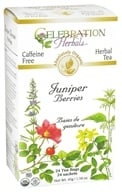 Celebration Herbals - Organic Caffeine Free Juniper Berries Herbal Tea - 24 Tea Bags (628240201546)
