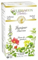Celebration Herbals - Organic Caffeine Free Juniper Berries Herbal Tea - 24 Tea Bags