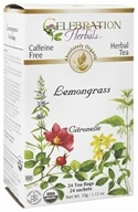 Celebration Herbals - Organic Caffeine Free Lemongrass Herbal Tea - 24 Tea Bags