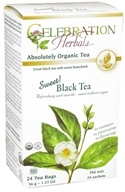 Celebration Herbals - Organic Sweet Black Herbal Tea - 24 Tea Bags, from category: Teas