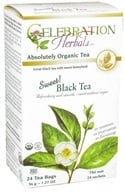 Celebration Herbals - Organic Sweet Black Herbal Tea - 24 Tea Bags by Celebration Herbals