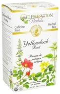 Celebration Herbals - Organic Caffeine Free Yellowdock Root Herbal Tea - 24 Tea Bags