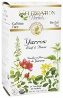 Celebration Herbals - Organic Caffeine Yarrow Leaf & Flower Herbal Tea - 24 Tea Bags (628240201942)
