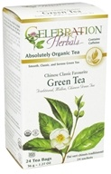 Celebration Herbals - Organic Chinese Classic Favorite Green Tea - 24 Tea Bags by Celebration Herbals