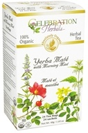 Celebration Herbals - Organic Yerba Mate with Morning Mint - 24 Tea Bags (628240251961)