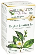 Celebration Herbals - Organic English Breakfast Tea - 24 Tea Bags (628240204035)