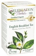 Celebration Herbals - Organic English Breakfast Tea - 24 Tea Bags by Celebration Herbals