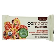 GoMacro - MacroBar Protein Purity Sunflower Butter & Chocolate - 2.3 oz., from category: Health Foods