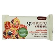 Image of GoMacro - MacroBar Protein Purity Sunflower Butter & Chocolate - 2.3 oz.