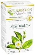 Celebration Herbals - Organic Rich Indian Assam Black Tea - 24 Tea Bags, from category: Teas