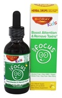 BioRay Kids - NDF Focus Tummy Brain Nurturing Herbal Drops Citrus - 2 oz., from category: Herbs
