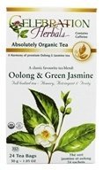 Celebration Herbals - Organic Oolong & Green Jasmine Herbal Tea - 24 Tea Bags by Celebration Herbals