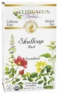 Celebration Herbals - Organic Caffeine Free Skullcap Herb Herbal Tea - 24 Tea Bags (628240201812)