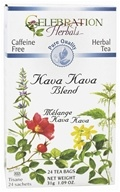 Celebration Herbals - Pure Quality Caffeine Free Kava Kava Blend Herbal Tea - 24 Tea Bags (628240203557)