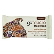 GoMacro - MacroBar Protein Pleasure Peanut Butter Chocolate Chip - 2.5 oz. by GoMacro