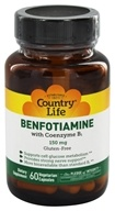 Country Life - Benfotiamine with Coenzyme B1 150 mg. - 60 Vegetarian Capsules (015794060031)
